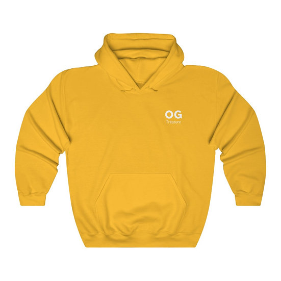 White Bold OG Pocket Logo Hooded Sweatshirt