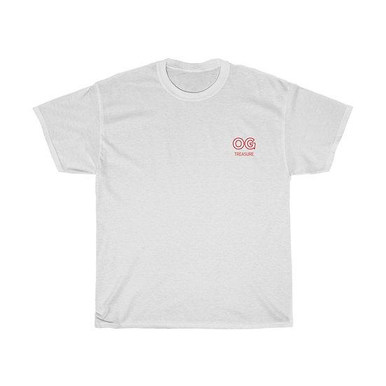 Red Outline OG Pocket Logo Tee