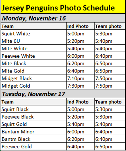 Jersey Penguins Photo Schedule - 2020.PN