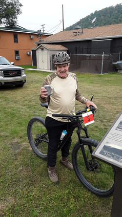 oldest rider Nelson Haas and third place