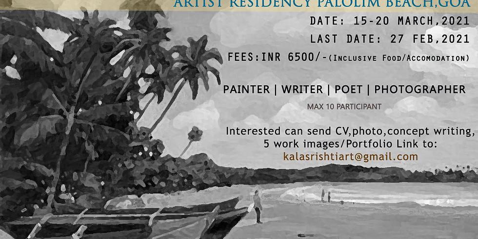 ARTIST RESIDENCY PALOLEM BEACH GOA