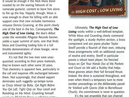Rave Living Blues Magazine Review of The High Cost of Low Living