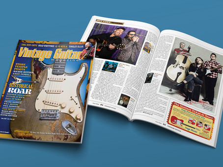 """Vintage Guitar Magazine Review of """"Lucky Guy!"""""""