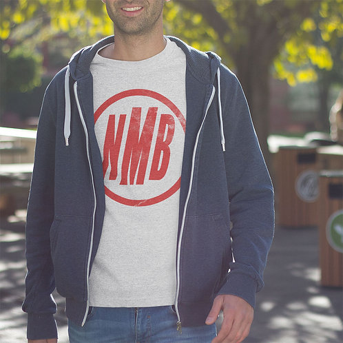 Ash Grey tee with red NMB logo