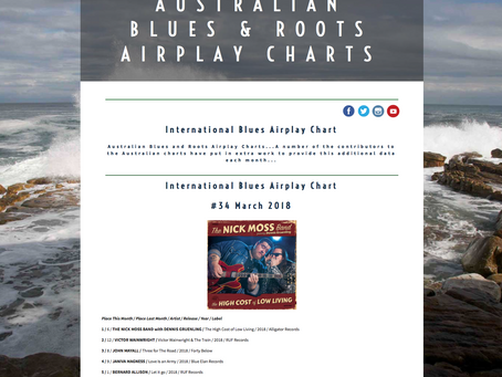 NMB #1 on the March 2018 Australian Blues & Roots Radio Airplay Chart!