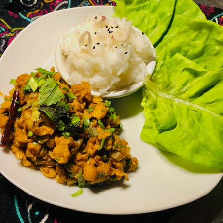 Tempeh LARB-A Thai Style STAR of a meal