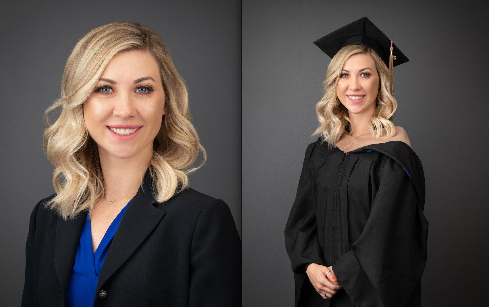 Graduation Gown & Suit Headshot