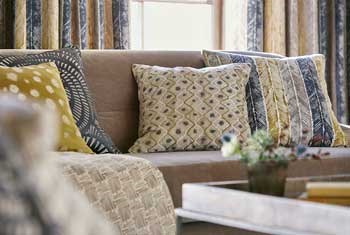 5-Harlequin-additions-fragments-walchia-fractal-mottle-blue-mustard-white-check-fossil-mixed-spots-stripe-cushions-details