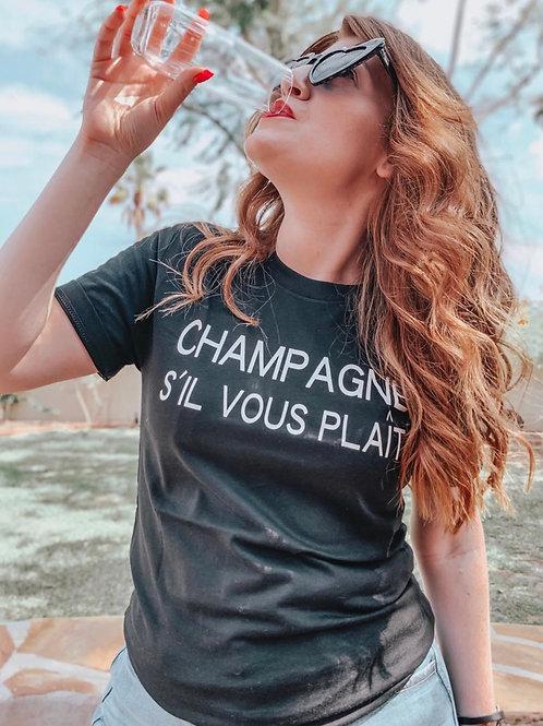 Champagne S'il Vous Plait (Champagne Please) Graphic T-shirt