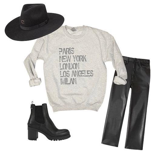 Wanderlust Sweatshirt ( Vintage Feel )