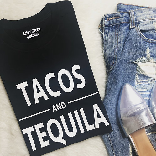 Tacos & Tequila Graphic T-shirt