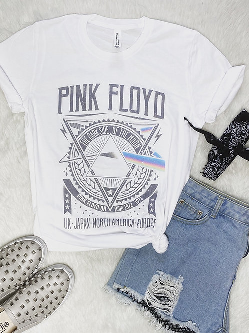Pink Floyd - The Dark Side of the Moon Graphic T-shirt ( Vintage Feel ) Band Tee