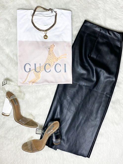Nude GG Graphic T-shirt ( Vintage Feel )