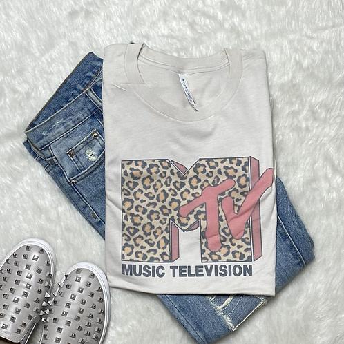 MTVs Leopard T-Shirt (Vintage Feel)