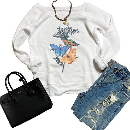 Butterfly Kisses Sweatshirt ( Vintage Feel )
