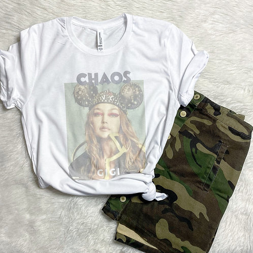Chaos with Gigi Graphic T-shirt ( Vintage Feel )