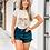 Thumbnail: Tassel Me Skull T-shirt (Vintage Feel)