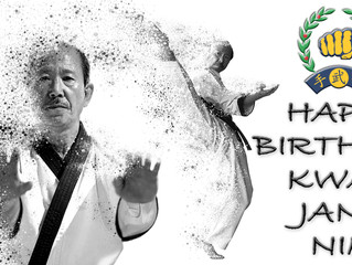 Grand masters Birthday! Grading next Saturday!