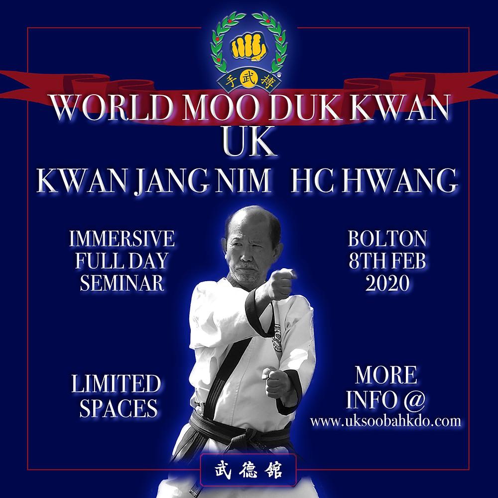 UK World Moo Duk Kwan Kwan Jang Nim Event
