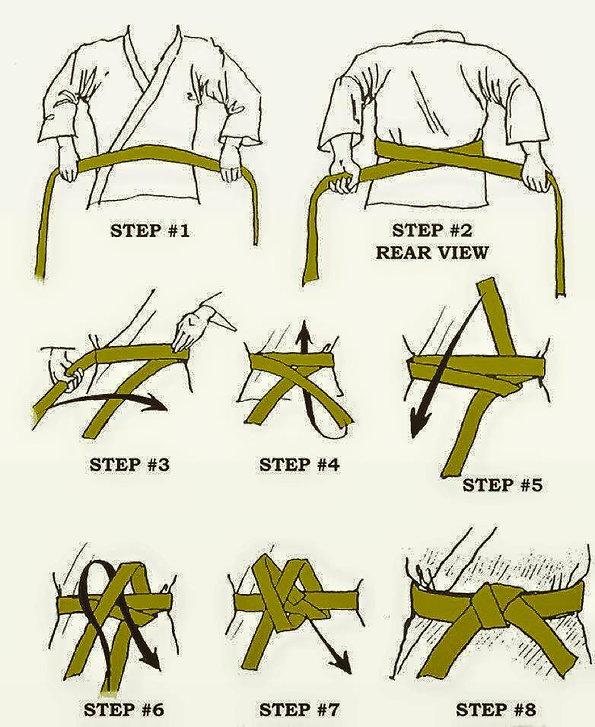 how to tie your belt, UK Soo Bahk Do belts