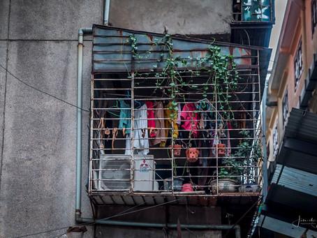 Dag 1/2c Vietnam: Hanoi, de balkonnetjes . . .