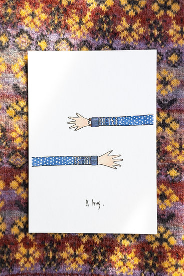 A Hug Illustrated A5 Print