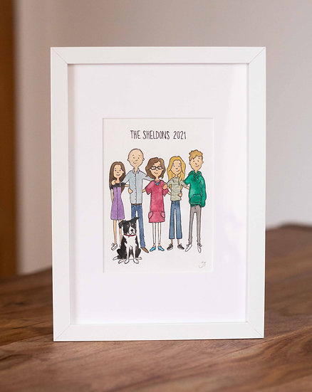 Custom Hand Drawn Family Portrait