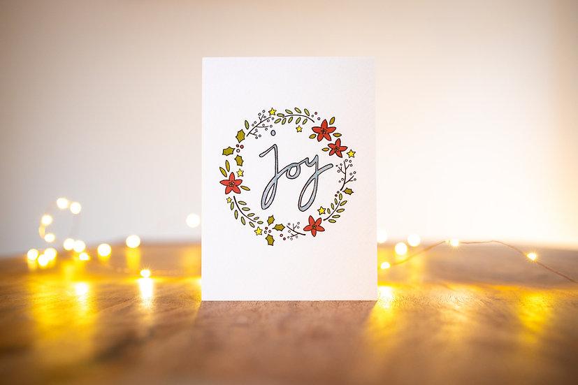 'Joy' Christmas Card