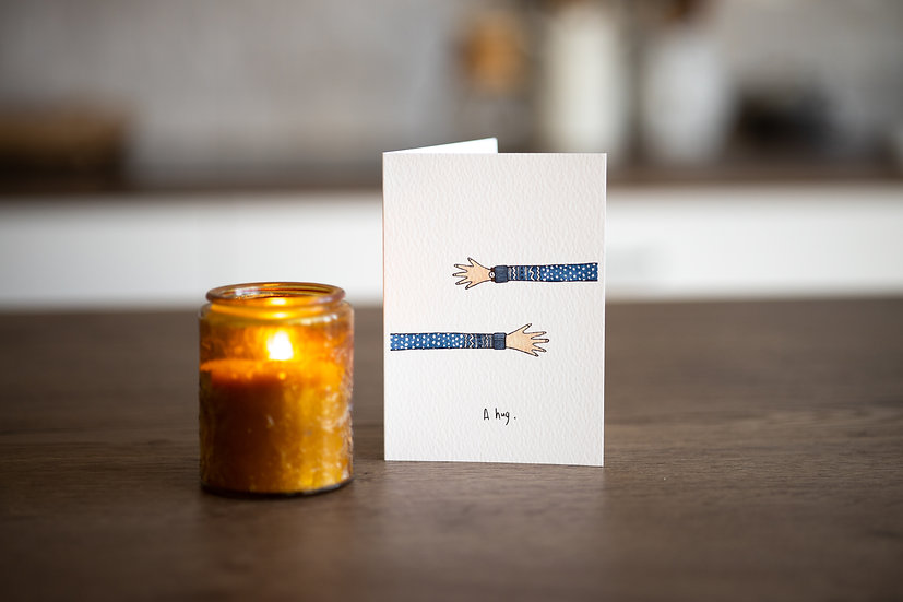 'A Hug' Greetings Card