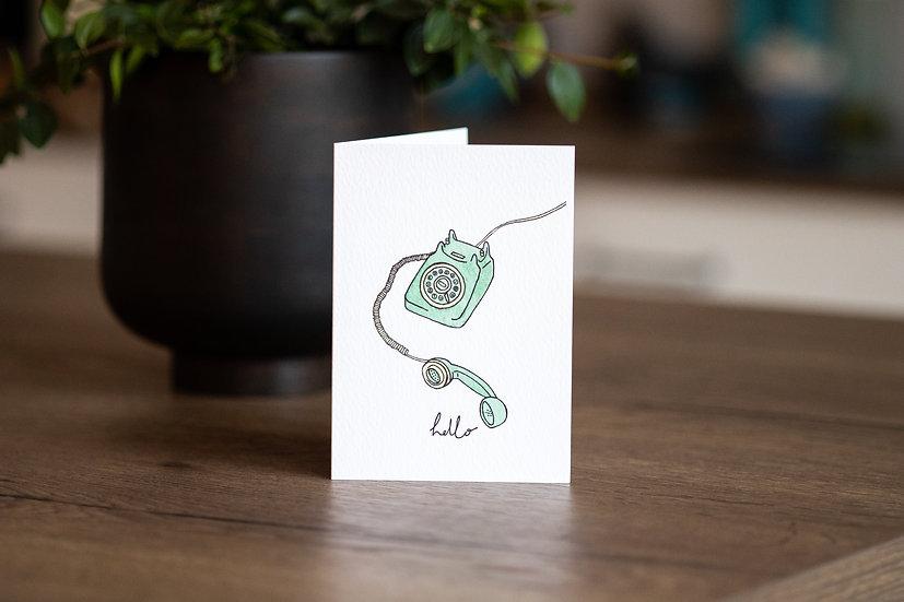 'Hello' Greetings Card