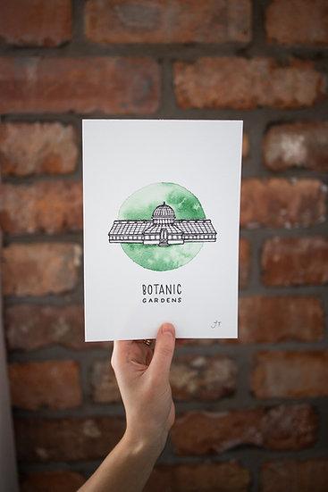Belfast Botanic Gardens Illustrated Print