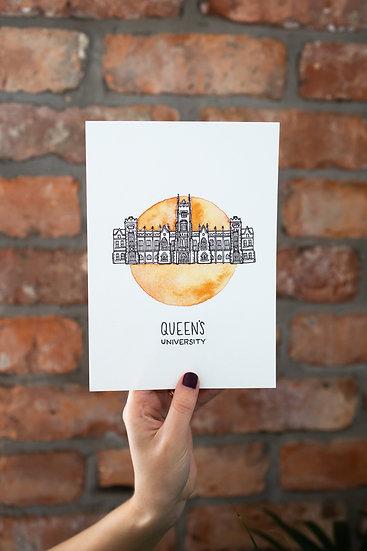 Queens University Belfast Illustrated Print