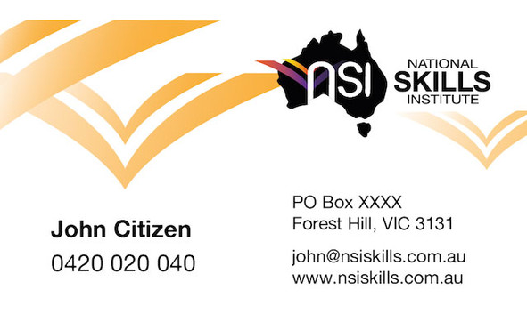 National Skills Institute - Business Card