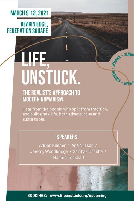 Life Unstuck - Seminar Poster