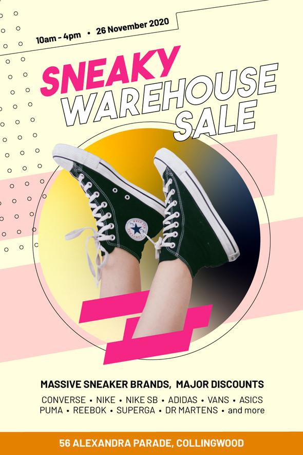 Sneaker Sale - Promo Poster
