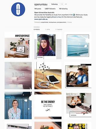 OUA Instagram Profile Screen