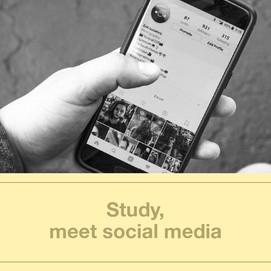 Study, meet social media