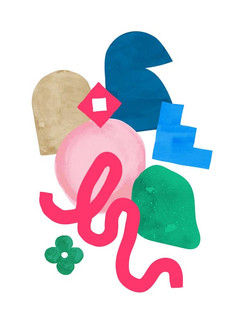 'Shape Up II' Art Print by Whimsody