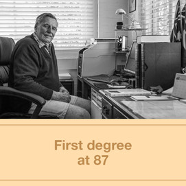 First degree at 87