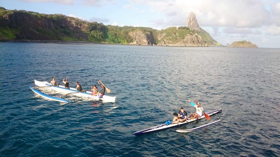 Paraíso a bordo da Canoa Havaiana