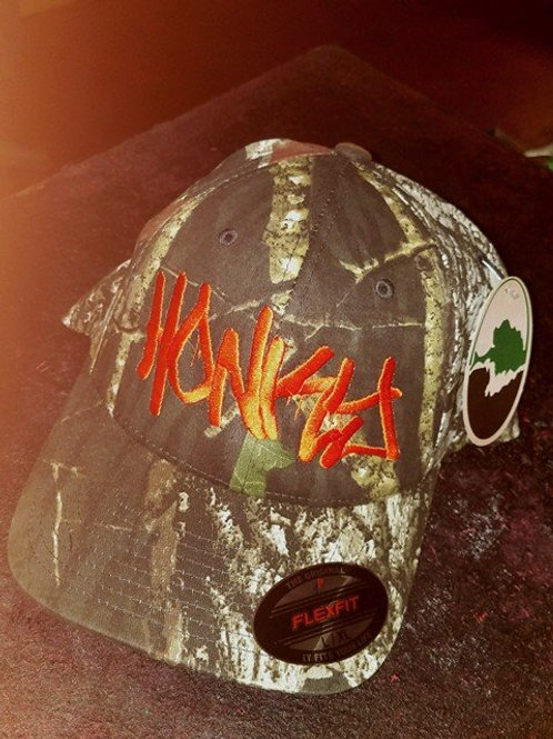 "Custom Embroidered ""Honky"" Mossy Oak Fitted"