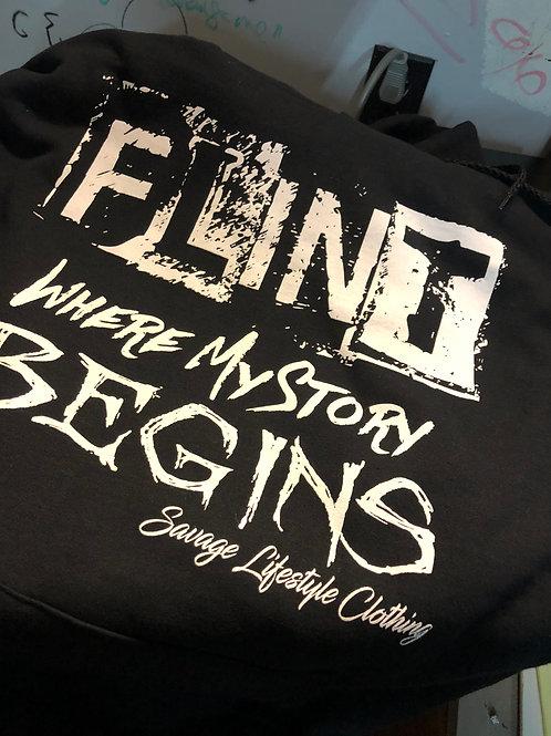 FLINT WHERE MY STORY BEGINS HOODIES