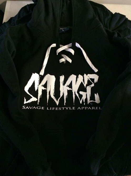 """Men's and Women's """"Savage"""" Hockey Lace Hoodie"""