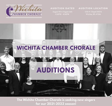 Wichita Chamber Chorale Auditions
