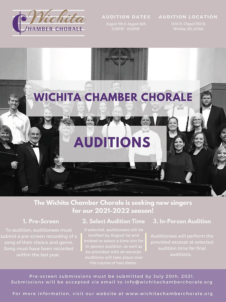 Wichita Chamber Chorale - Auditions
