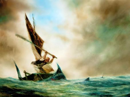 """El óleo vivo: """"El viejo y el mar"""" (1999) de Aleksandr Petrov."""