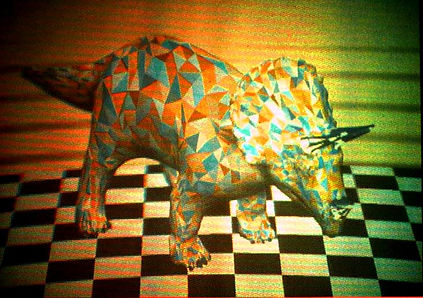 The world's first 3D digital reflection holographic stereogram.