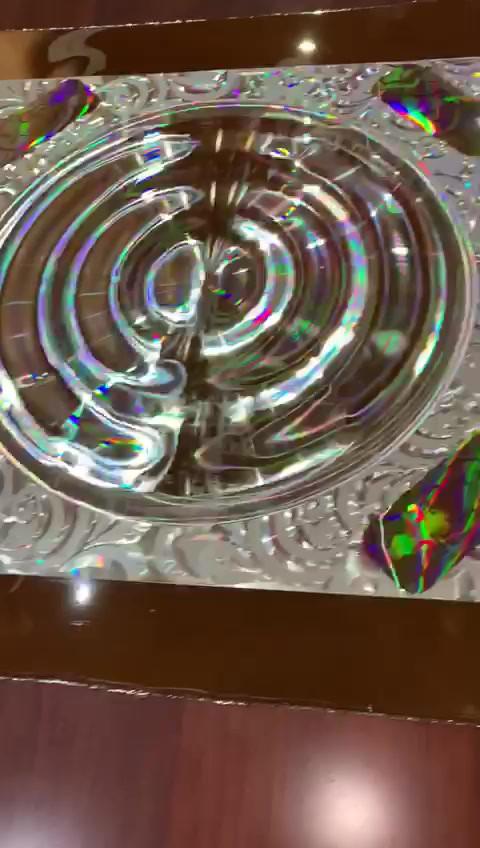 Large Fresnel lens pattern