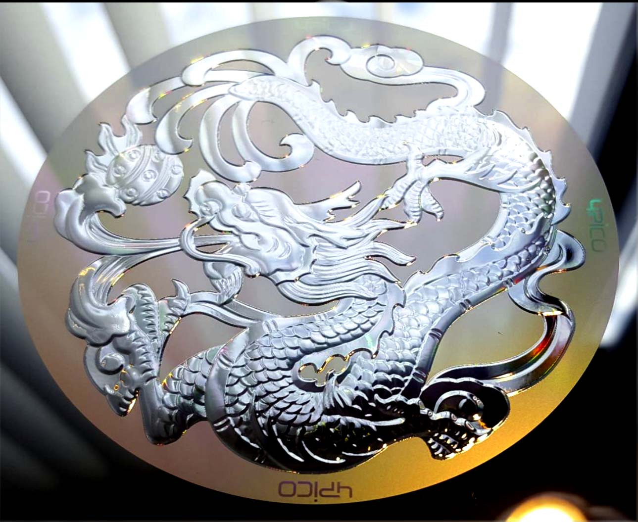 Fresnel 'bas relief' dragon