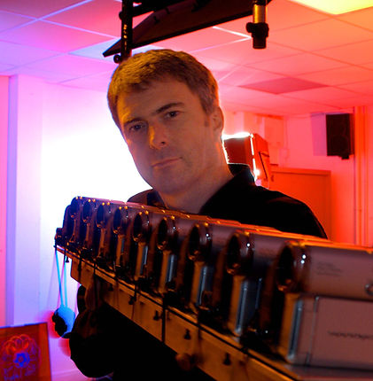 Rob Munday with real time video system f